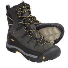 Keen Summit County Winter Boots - Waterproof Insulated (For Men) in Dark Shadow/Yellow - Closeouts