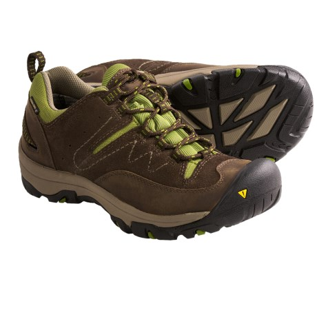 Keen Susanville Low Trail Shoes - Waterproof (For Women) in Slate Black/Woodbine