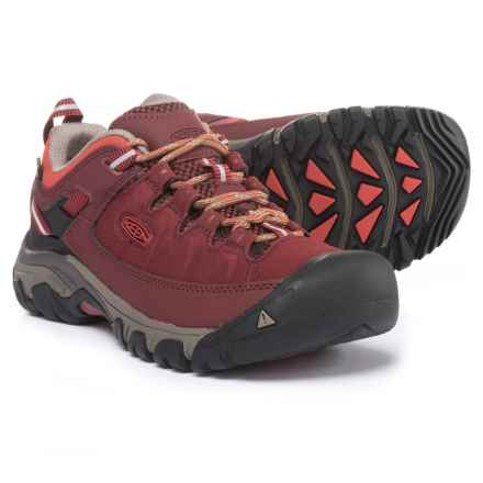 Keen Targhee EXP Hiking Shoes - Waterproof (For Women) in Syrah/Tandori Spice - Closeouts