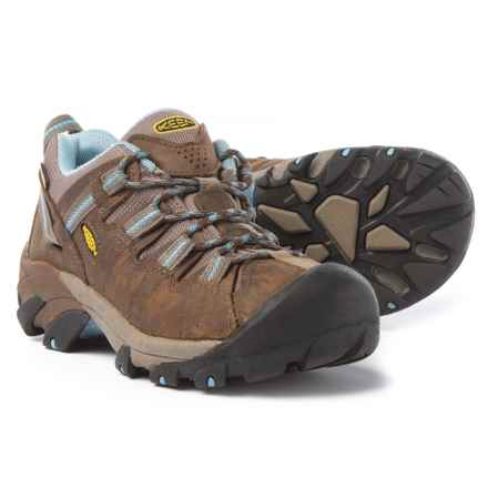 Keen Targhee II Hiking Shoes - Waterproof, Leather (For Women) in Dark Earth/Allure - Closeouts