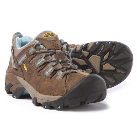 Keen Targhee II Hiking Shoes - Waterproof, Leather (For Women) in Dark Earth/Allure