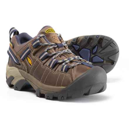 Keen Targhee II Hiking Shoes - Waterproof, Leather (For Women) in Goat/Crown Blue - Closeouts