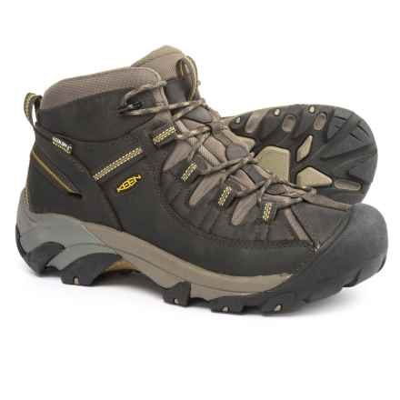 Keen Targhee II Mid Hiking Boots - Waterproof (For Men) in Black Olive/Yellow - 2nds