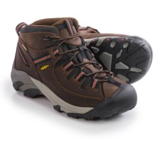Keen Targhee II Mid Hiking Boots - Waterproof, Leather (For Men) in Chestnut/Bossa Nova - Closeouts