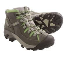 Keen Targhee II Trail Shoes - Mid-Height, Waterproof (For Women) in Gargoyle/Jade Green - Closeouts