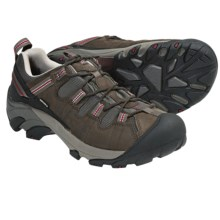 Keen Targhee II Trail Shoes - Waterproof, Leather (For Men) in Black Olive/Jester Red - Closeouts