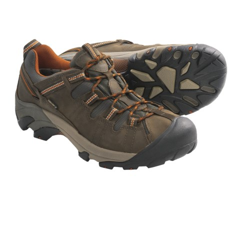 Keen Targhee II Trail Shoes - Waterproof, Leather (For Men) in Slate Black/Bombay Brown