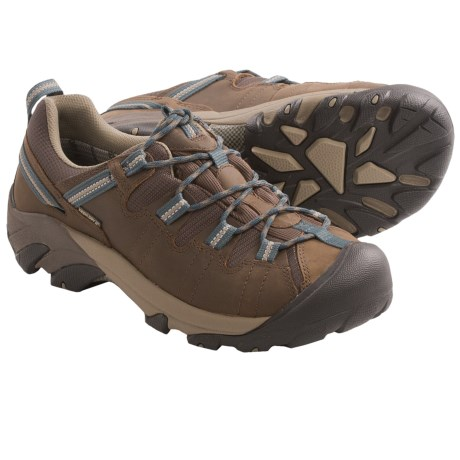 Keen Targhee II Trail Shoes - Waterproof, Leather (For Men) in Slate Black/Brindle