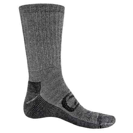 Keen Targhee Lite Hiking Socks - Merino Wool, Crew (For Men) in Black/Black - Closeouts