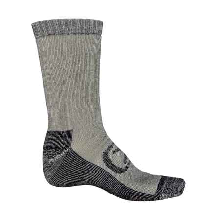 Keen Targhee Medium Cushion Socks - Merino Wool Blend, Crew (For Men) in Black/Black - Closeouts