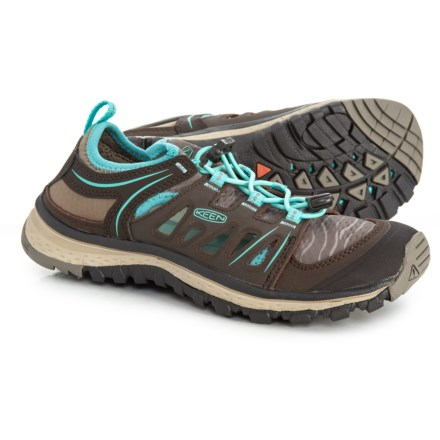 bb8c10a7fd Keen Terradora Ethos Hiking Shoes (For Women) in Mulch/Blue Turquoise -  Closeouts