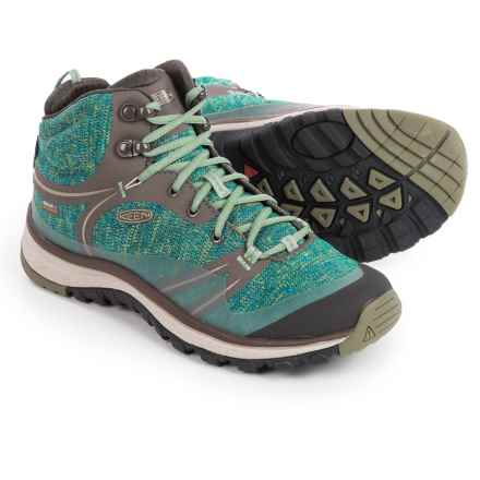 Keen Terradora Hiking Boots - Waterproof (For Women) in Bungee Cord/Malachite - Closeouts