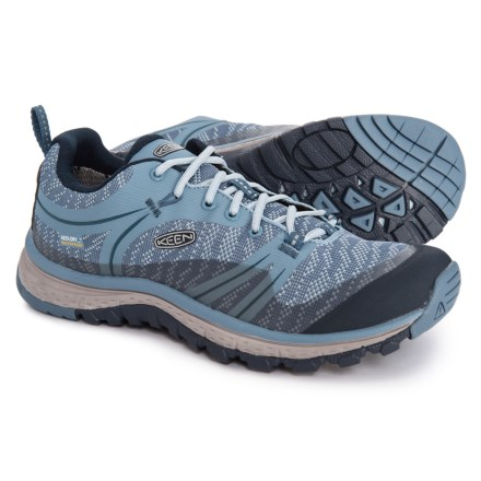 2a56ab526955 Keen Terradora Hiking Shoes - Waterproof (For Women) in Blue  Shadow Captains Blue