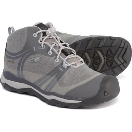 c4105f32f3 Clearance. Keen Terradora Mid Hiking Boots - Waterproof (For Big Kids) in  Gargoyle/Magnet