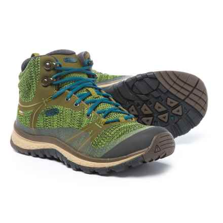 Keen Terradora Mid Hiking Boots - Waterproof (For Women) in Dark Olive/Blue Coral - Closeouts