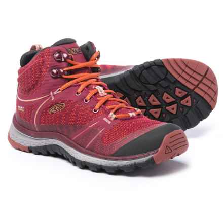 Keen Terradora Mid Hiking Boots - Waterproof (For Women) in Rhododendron/Marsala - Closeouts
