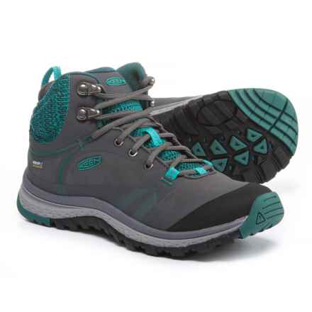 Keen Terradora Pulse Mid Hiking Boots - Waterproof (For Women) in Magnet/Baltic - Closeouts