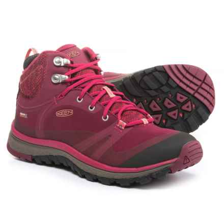 Keen Terradora Pulse Mid Hiking Boots - Waterproof (For Women) in Rhododendron/Sugar Coral - Closeouts
