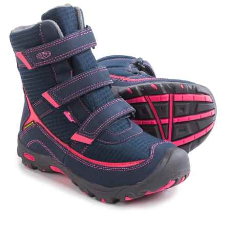 Keen Trezzo II Tall Snow Boots - Waterproof, Insulated (For Little and Big Kids) in Dress Blues/Camellia Rose - Closeouts