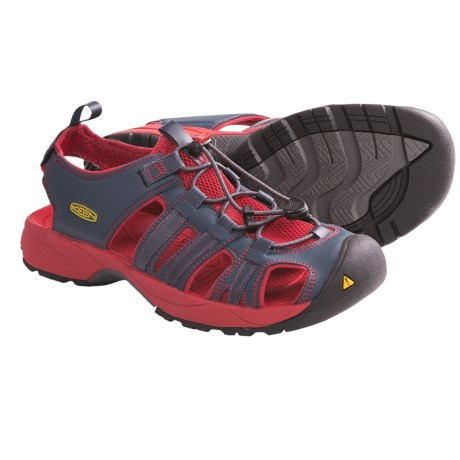 Keen Turia Sport Sandals (For Men) in Midnight Navy/Pompeian Red