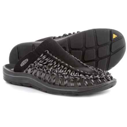 Keen Uneek Slide Sandals (For Men) in Black/Gargoyle - Closeouts