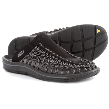 Keen Uneek Slide Sandals (For Men) in Black/Gargoyle
