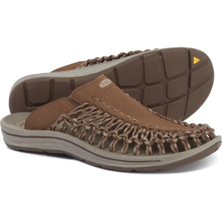 e594faee46f5e5 Keen Uneek Slide Sandals (For Men) in Dark Earth/Brindle
