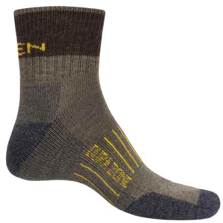 Keen Utility Dura-Zone Socks - Merino Wool, Quarter Crew (For Men) in Khaki - Closeouts