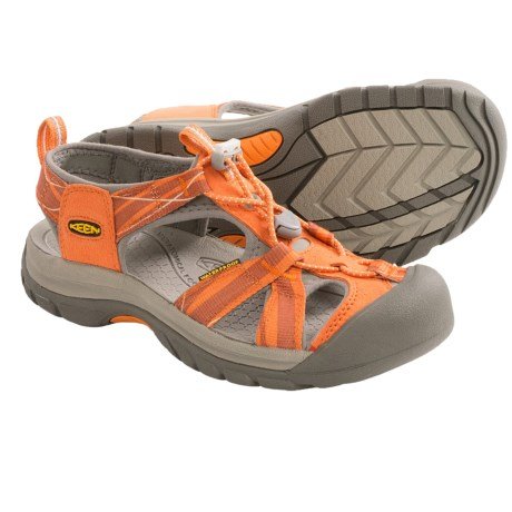 Keen Venice H2 Sport Sandals (For Women) in Persimmon/Neutral Grey