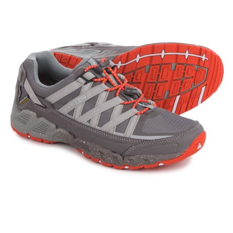 Keen Versatrail Hiking Shoes - Waterproof (For Women) in Shark/Tiger Lily