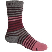 Keen Victoria Crew Socks - Merino Wool (For Youth Girls) in Port Royale/Carnation - Closeouts
