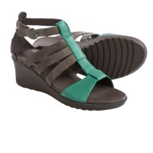 Keen Victoria Gladiator Sandals - Leather, Wedge Heel (For Women) in Cascade Brown - Closeouts