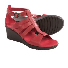 Keen Victoria Gladiator Sandals - Leather, Wedge Heel (For Women) in Ribbon Red - Closeouts