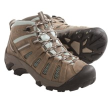 Keen Voyageur Mid Hiking Boots - Leather (For Women) in Drizzle/Surf Spray - Closeouts