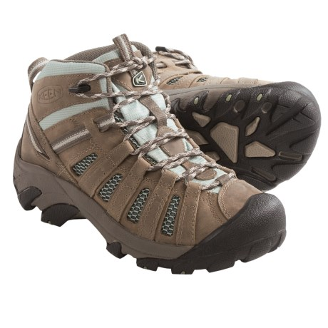 Keen Voyageur Mid Hiking Boots - Leather (For Women) in Drizzle/Surf Spray