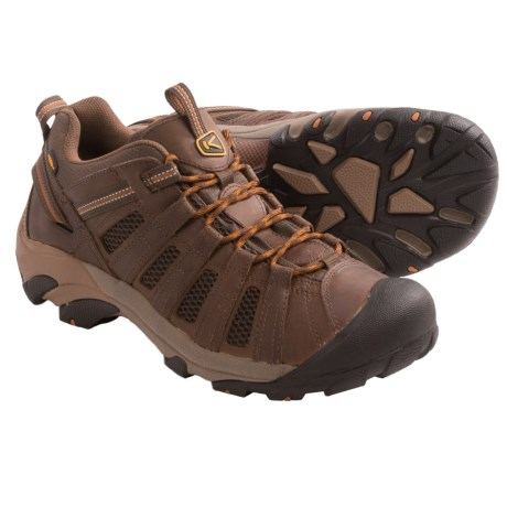 Keen Voyageur Trail Shoes (For Men) in Dark Earth/Cathay Spice