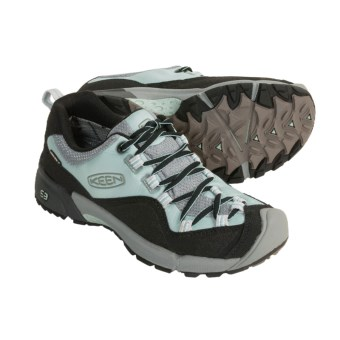 Keen Wasatch Crest Trail Shoes - Waterproof (For Women) in Cloud Blue/Lunar Rock