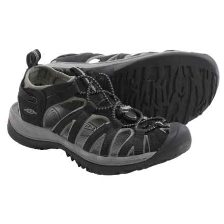 Keen Whisper Sport Sandals (For Big Kids) in Black/Gargoyle - Closeouts