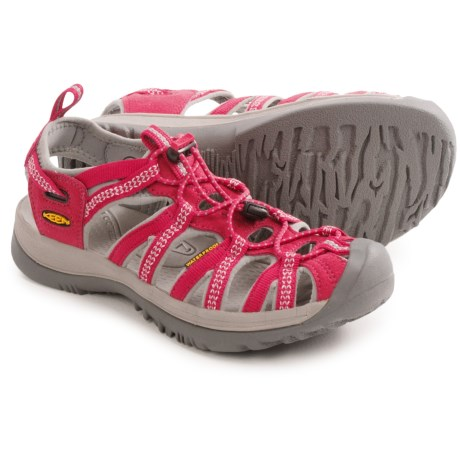 Keen Whisper Sport Sandals (For Women) in Barberry/Neutral Grey