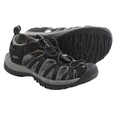 Keen Whisper Sport Sandals (For Women) in Black/Gargoyle