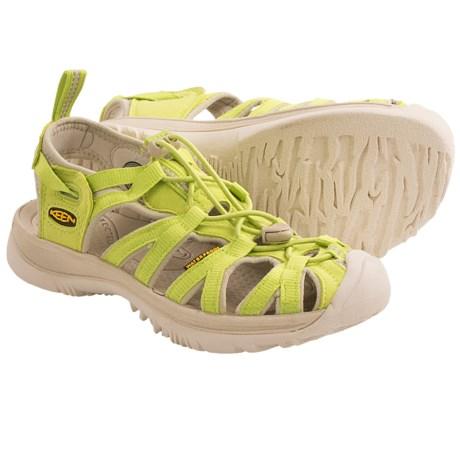 Keen Whisper Sport Sandals (For Women) in Green Glow/Pumice Stone