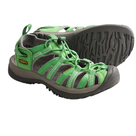 Keen Whisper Sport Sandals (For Women) in Black/Bright Chartreuse
