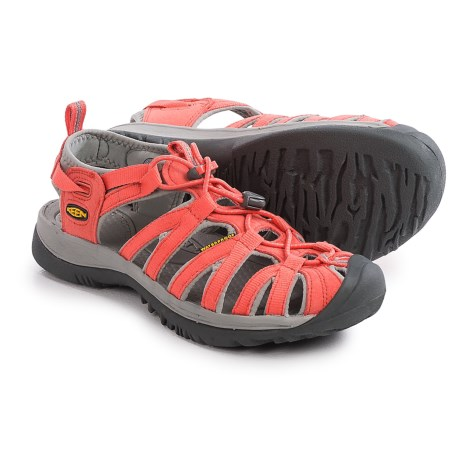 Keen Whisper Sport Sandals (For Women) in Hot Coral/Neutral Grey