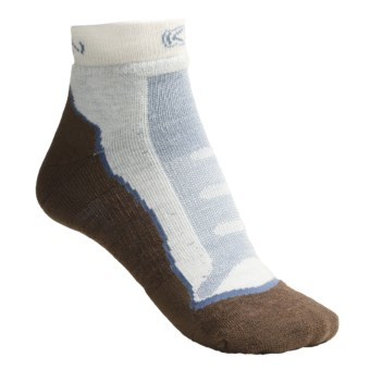 Keen Wildwood Socks - Merino Wool, Lightweight, Ankle (For Women) in Current Blue/Dark Earth