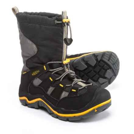 Keen Winterport II Snow Boots - Waterproof, Insulated (For Boys) in Black/Gargoyle - Closeouts