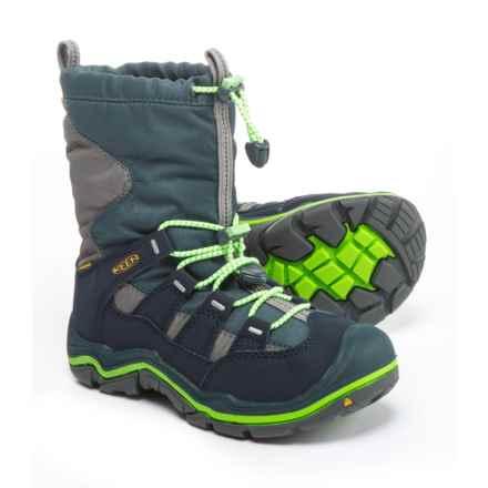 Keen Winterport II Snow Boots - Waterproof, Insulated (For Boys) in Midnight Navy/Jasmine Green - Closeouts