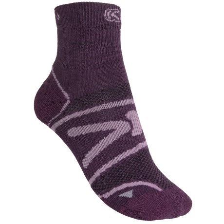 Keen Zip Hyperlite Socks - Quarter-Crew (For Women) in Dark Purple/Violet