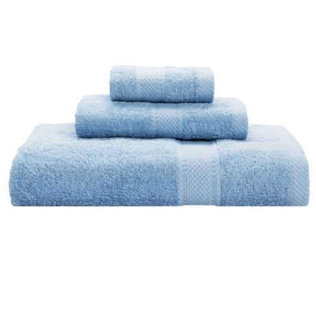Keeping Company by Aegean Terry Loop Bath Towel Set - 450gsm, 3-Piece in Light Blue