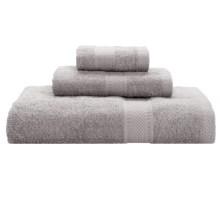 Keeping Company by Aegean Terry Loop Bath Towel Set - 450gsm, 3-Piece in Silver - Overstock