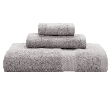 Keeping Company by Aegean Terry Loop Bath Towel Set - 450gsm, 3-Piece in Silver